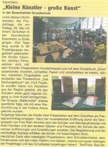 2015.06.05. Zeitungsartikel Projekttage