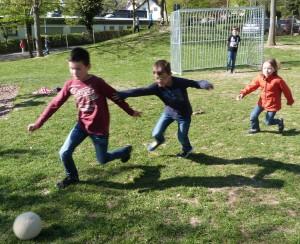 2015.04.20. Fußballspiel in der Pause