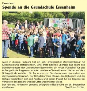 2015.05.04. Nachrichtenblatt der VG Kickerübergabe an GS Essenheim