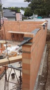 2015.09.07. Anbau BGS - erste Mauern
