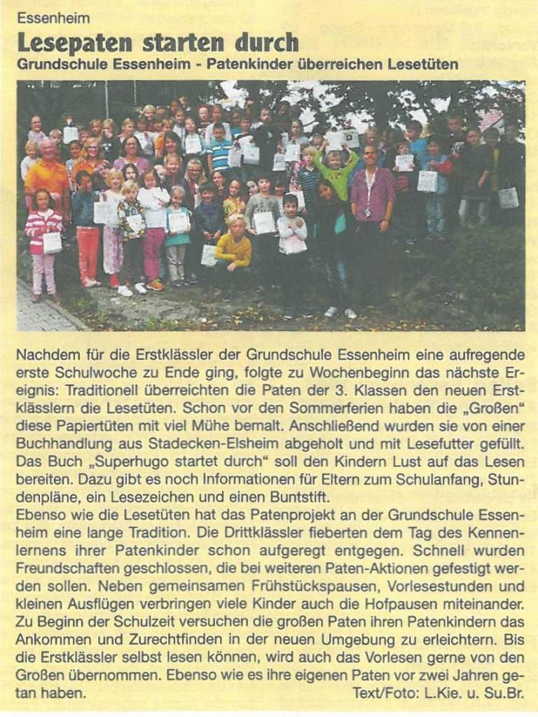 2015.09.24. Lesepaten starten durch - Nachrichtenblatt Nieder-Olm