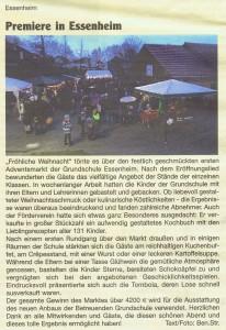 2015.12.17. Nachrichtenblatt - Premiere in Essenheim