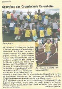 2016.06.09. Nachrichtenblatt der VG Sportfest GS Essenheim