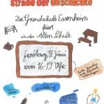 2016.06.17. Einladung Fest Schule früher der GS Essenheim